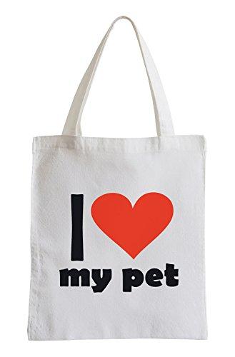 I love my pet Fun Jutebeutel (Pet-style-kleidung)