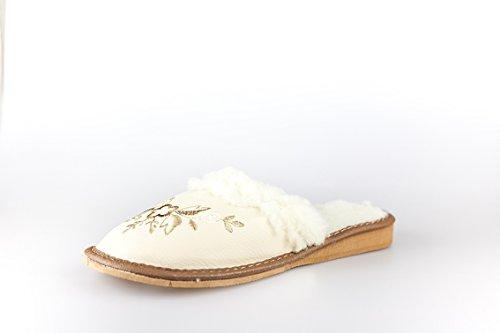 BTS chaussons chauds pour femme 36–42 avec doublure taille 36 à 41 Marron - Marron/beige
