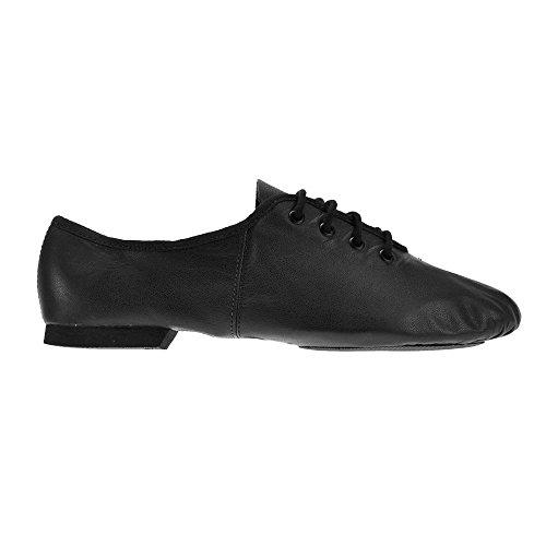So Danca JZE09 de Split Sole Jazz chaussures Noir
