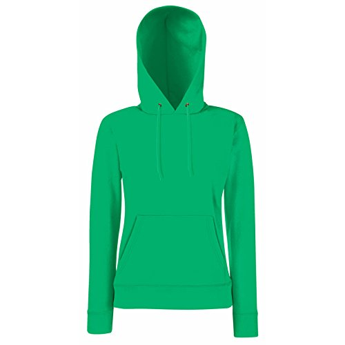 Fruit of the Loom - Lady-Fit Hooded Sweat L,Kelly Green