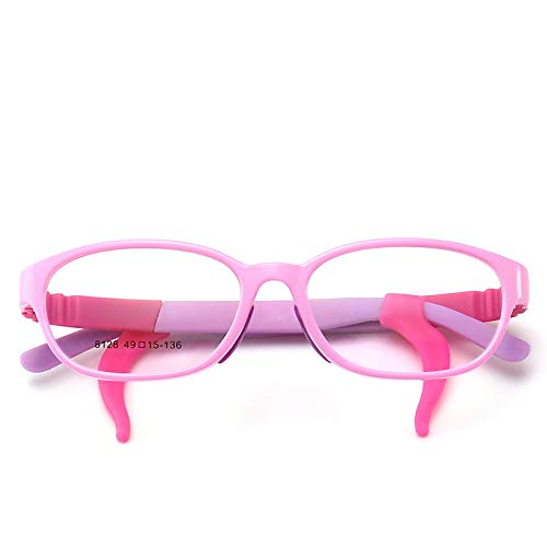 Yangjing-hl Kinderbrille Rahmen Silikon Material Brillenrahmen Modetrend Kinderbrille, Purple Box, Einheitsgröße