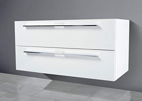 Intarbad - Waschtisch Unterschrank zu Villeroy & Boch Subway 2.0 100 cm Waschbeckenunterschrank Weiß Matt Lack