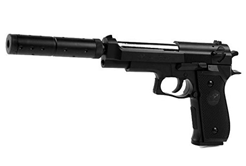 PISTOLET A BILLES M22 DOUBLE EAGLE SPRING HOP UP + SILENCIEUX 0.5 JOULE AIRSOFT AC80041 REPLIQUE DE POING M9 BERETTA