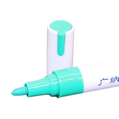 Bobury 1pc Farbe Marker Reifen Profil Gummi Farbe Metall Gesicht Permanent Farbe Marker Pen (Das Weiße Gesicht, Reifen)