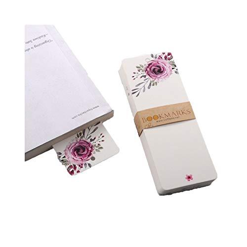 Confezione da 40 segnalibri in carta vuota fai da te, segnalibri da lettura, regalo di cancelleria per la scuola, K1
