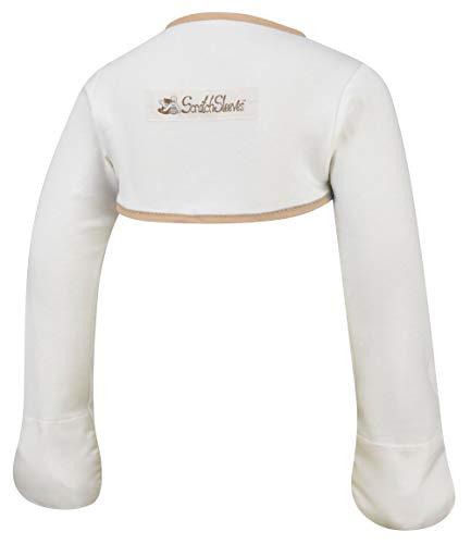 ScratchSleeves   Kratzhandschuhe mit Ärmeln für juckreizgeplagte Babys und Kleinkinder   Cremefarben/Cappuccino   12-18m -