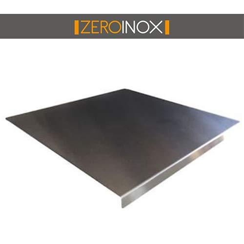 ZeroInox SPIANATOIA Tagliere in Acciaio Inox Varie Misure per Proteggere Il Piano della Cucina **Professionale** Finitura Scotch Brite (70 X 50 X Piega 3 CM)