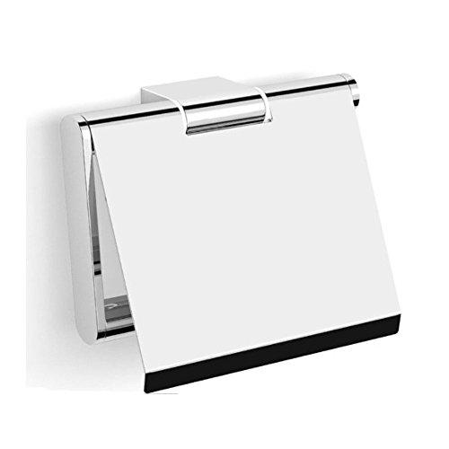 Korpusbad® Design Toilettenpapierhalter AC102   edel verchromt   Form: viereckig   verdeckte Verschraubung   Montagematerial enthalten