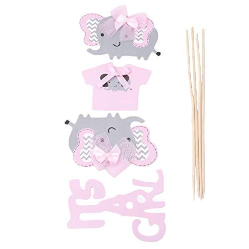 Elefant Cake Topper Baby Elefant unter dem Motto Cupcake Picks es ist EIN Mädchen Baby Shower Birthday Party Dekorationen Zubehör nützlich und praktisch