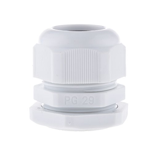 10pcs PG48/42 /36/29/25/21/19/16/13.5/11/9/7 Blanc Ip68 Plastique Imperméable à L'eau Presse-étoupe Connecteur - 18-25mm