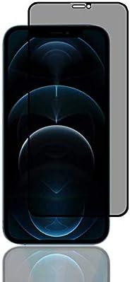 واقي شاشة لهاتف آيفون 12 برو ماكس، [3D Touch] ضد التجسس 9H زجاج مقسى، واقي شاشة كامل من الحافة إلى الحافة مضاد
