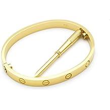 Brillo de lujo celebridad amor tornillo brazalete pulseras + destornillador