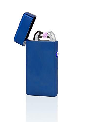 TESLA Lighter T08 Lichtbogen-Feuerzeug, elektronisches USB Feuerzeug, Double-Arc Lighter, wiederaufladbar, Blau
