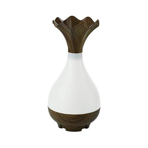 WWFF Birnenform Warmes Licht Aromatherapie Maschine Home Office Holzmaserung Diffusor Instrument Mini Luftbefeuchter Schlafzimmer Dekoration Ornamente USB Verbindung Cool (Farbe : Brown)