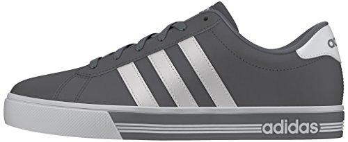 adidas Daily Team, Chaussures de Sport Homme, Bleu, Eu Gris (gris / blanc Footwear / gris)