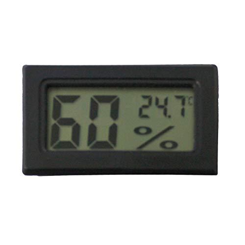 Vosarea Mini Luftfeuchtigkeit Hygrometer Feuchte Temperatur Messgerät Tragbar für Innenraum und Außen (Schwarz)