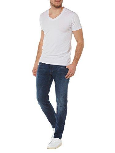 Replay Herren Slim Jeanshose Anbass Blau