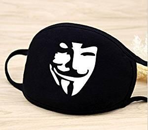 Fendii New Funny Face Maske Schwarz Staub Atmungsaktiv -