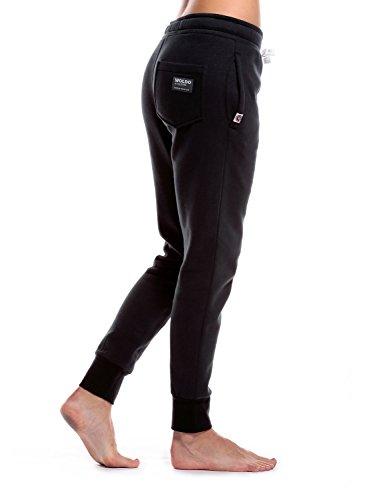 WOLDO Athletic - Pantalon de sport - Femme Clark / schwarz/weiß