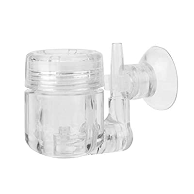 Diffuseur de CO2 en forme de U, Réacteur au dioxyde de carbone pour aquarium planté 4 en 1 avec contrôle de CO2 de la vanne de système de CO2 DIY avec clapet anti-retour / tuyau en verre en forme de U