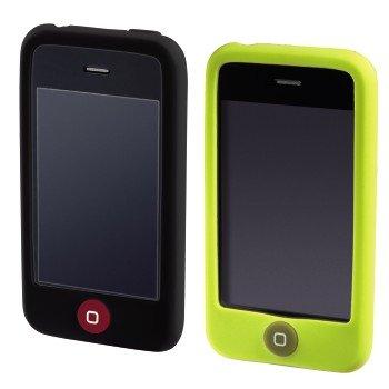 Hama Silikon hülle für Apple iPhone 3G/3GS, schwarz/grün Iphone 3g