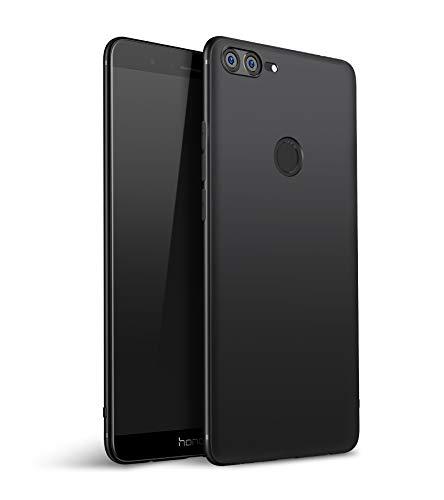 Olliwon Huawei Honor 9 Lite Hülle, Dünn Leichte Schutzhülle Schwarz Silikon TPU Bumper Case Cover für Huawei Honor 9 Lite