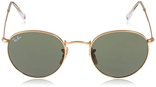 Ray-Ban RB 3447 47 001 Rb 3447 Round Sunglasses 47, Gold Img 1 Zoom