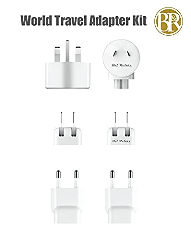 Bai Reiths 6 pièces International Adaptateur Secteur (UK+EU+US+AU+CN+KR) Pour Chargeur de iPod, iPhone, MacBook, MacBook Pro and MacBook