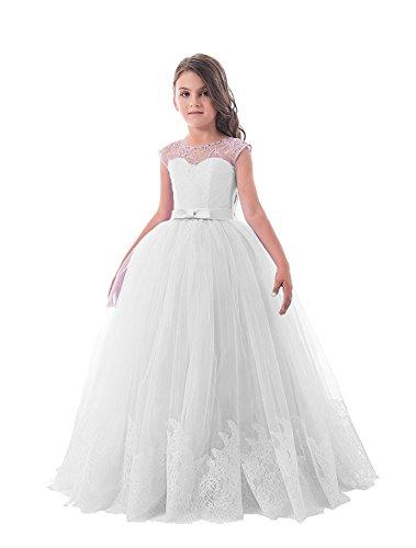 Carnivalprom Mädchen Hochzeit Fest Blumenmädchen Kleider Bodenlanges Kinderkleid Kommunionkleid...