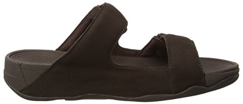 FitFlop Gogh Adjustable, Sandales Plateforme homme Marron - Brown (Chocolate Brown)