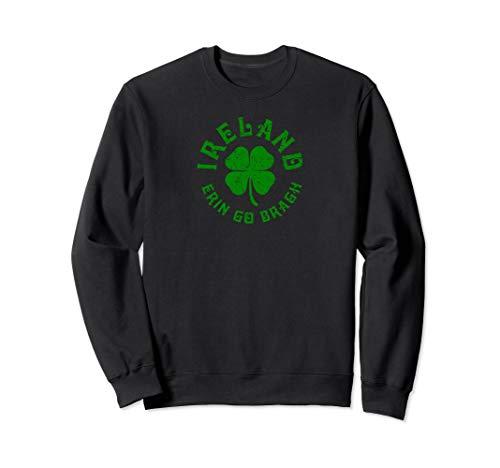 Irland Erin Gehen Bragh Lucky Clover  Sweatshirt -