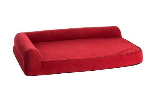 Karlie Orthopädisches Hundebett Ortho Visco, 60 cm x 48 cm x 21 cm, rot