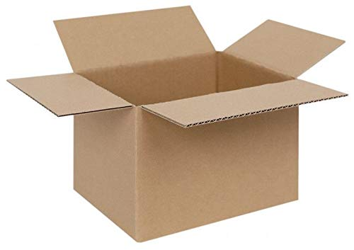 Brillibrum Design Versandkarton Pappkarton Karton Kisten Verpackung Umzugskarton Versand-Paket Versandschachtel Faltkarton Braun Umzugskarton (10, 19 x 15 x 14 cm)
