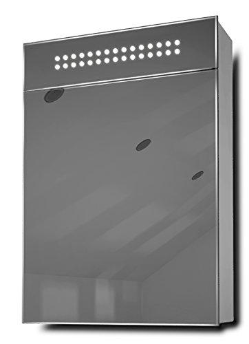 Evita LED Eck-Unterschrank Spiegel mit Rasiersteckdose und Sensor K148