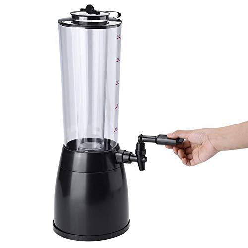 YUWJ Beer Tower Getränkespender mit Pro-Pour-Wasserhahn und Gefrierrohr, kaltes Getränk, perfekt für Sommerpartys und Familienbars, 2,5 Liter, (Kalte Getränke Tower)