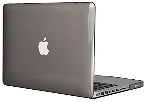 Topideal Crystal Hard Shell Case Cover Für MacBook 13Pro 33,8cm [33,1cm] (Modell: A1278) Grau