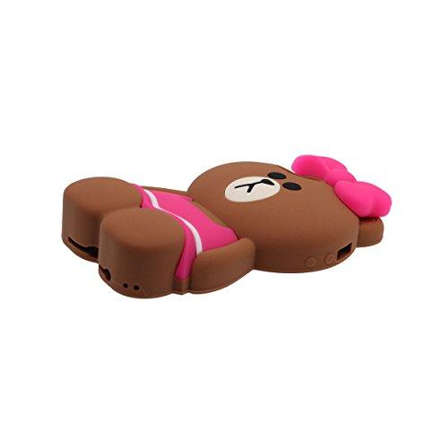 Hülle für iPhone SE, Schutzhülle Case für Apple iPhone 5 5S 5C 5G, Tier Niedlich Kleiner Bär Mit Rock Aussehen Weich Silikon Gel / Komfortabler Griff Passt Perfekt Pink