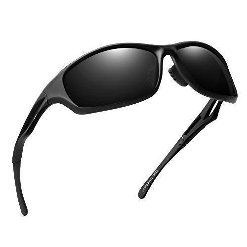 laxikoo Sportbrille Polarisierte Sonnenbrille Fahrradbrille für Herren und Damen mit TR90 UV400 Schutz Radbrille für Outdooraktivitäten wie Radfahren Laufen Klettern Autofahren Angeln Golf