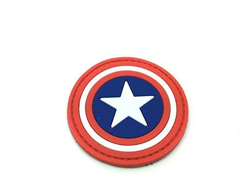 (Captain America Cosplay PVC Airsoft Klettverschluss Patch)