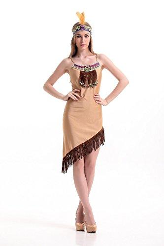 FGDJTYYJ Halloween-Kostüm/einheimischen Naturvölker in Fancy Dress/Frauen, - Gefiederte Röcke Kostüm