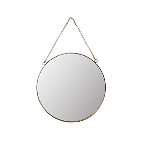 Miroirs Maquillage (Color : Gold, Size : 40 * 40 * 3cm)