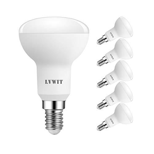 LVWIT LED Reflektor E14 R50, 470 lm, Warmweiß 2700K, 5W ersetzt 40W Glühbirne, matt (6er Pack) - Reflektor Lampe Licht