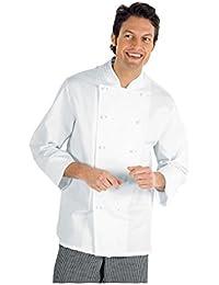 Chaqueta de cocinero básica, blanca, de manga larga