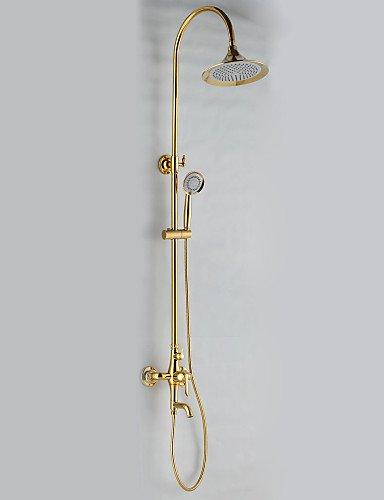 Ti-PVD finitura anticata doccia Rubinetti stile con 24 x 24 cm soffione doccia + doccia a mano