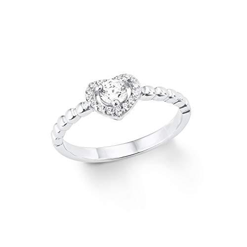 Amor Damen-Verlobungsringe 925_Sterling_Silber zirkonia \'- Ringgröße 52 2024026