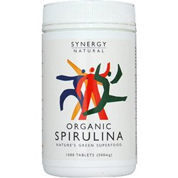 Organic Spirulina Tablets1000 by Synergy Natural by Synergy Natural