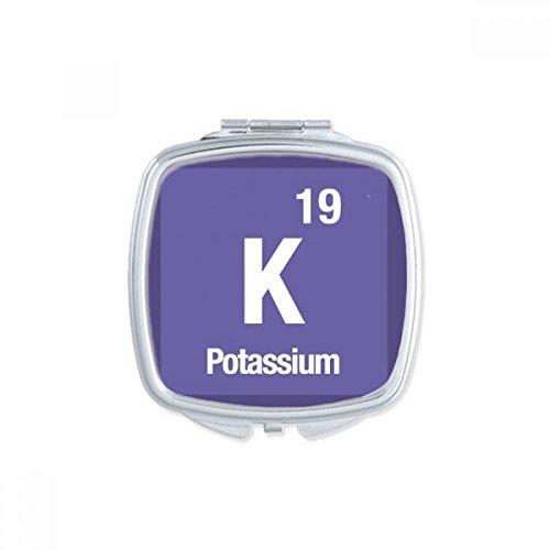 DIYthinker K Kalium chemisches Element Chem Quadrat Compact Make-up Spiegel Beweglicher Nette Handtaschenspiegel Geschenk Mehrfarbig