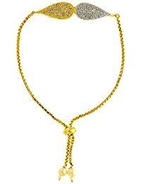 Anuradha Art Two-Tone Stylish Trendy Look This Designer Hand Bracelets/Kada For Women/Girls