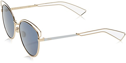 Dior Damen DIORSIDERAL2 KU J9H Sonnenbrille, Rose Gold White/Blue Avio, 56