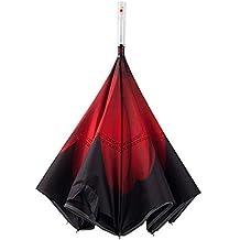 LEENY Paraguas Invertido/Reversible Advertencia de Seguridad para Automóviles LED Recto Luminoso de Doble Capa